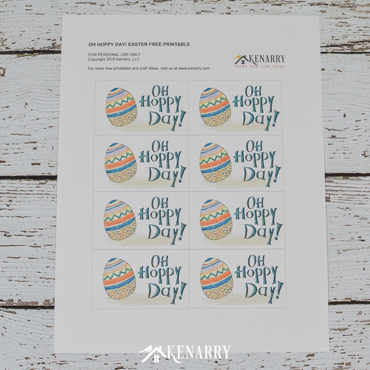 """What a """"hoppy"""" day it will be when your kids find these Easter gift tags on the treats in their Easter baskets. Get these free printable Easter cards today."""