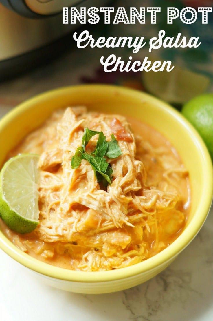 Instant Pot creamy salsa chicken recipe