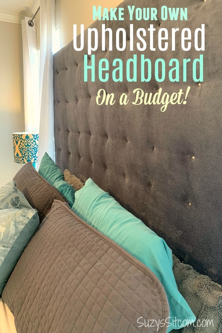 Learn how to make a fabric headboard for an elegant, elevated style to your bedroom design. Plus this beautiful, tufted DIY headboard is budget friendly! The instructions for this king sized upholstered headboard can easily be converted to a twin, queen, or any size bed. #bedroomdecor #diydecor #kenarry