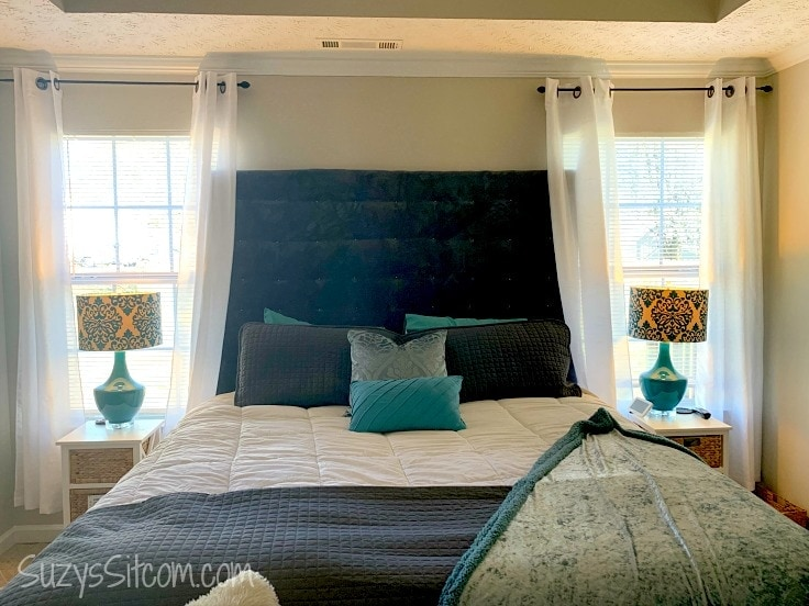 How to make your own Upholstered Headboard on a Budget!