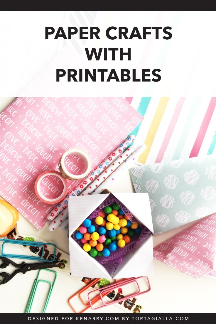 Here are five paper crafts to make with printables (+ free downloads). Make practical tools for everyday use, like notebooks, stationery, gift wrap, and more as home and gift items using paper!