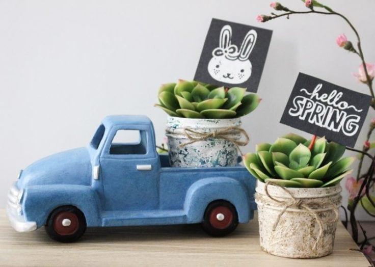 Easter Spring Vignette Our Crafty Mom