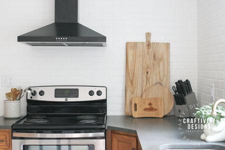 Faux Brick Backsplash for a Budget Kitchen Renovation, by Craftivity Designs