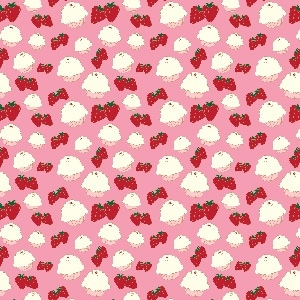 Free printable cupcakes and strawberries paper