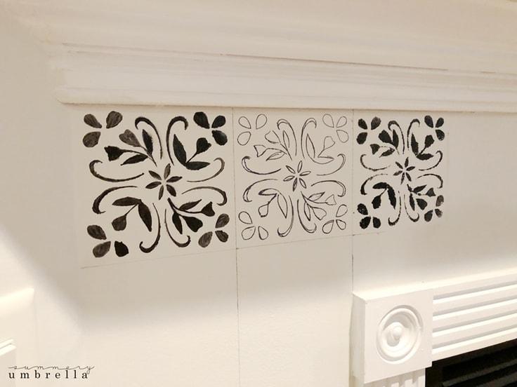 faux stencil tile