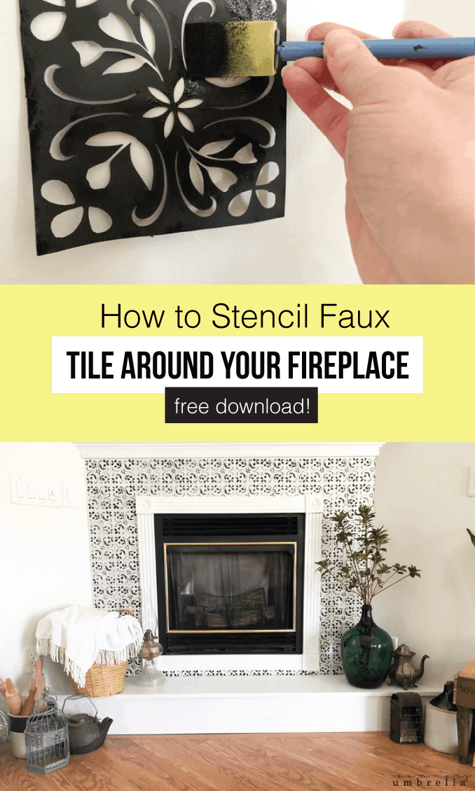 Do you crave a new look for your fireplace, but need an inexpensive fix? Look no further! Learn how to create beautiful faux tiles around your fireplace in this step-by-step tutorial.