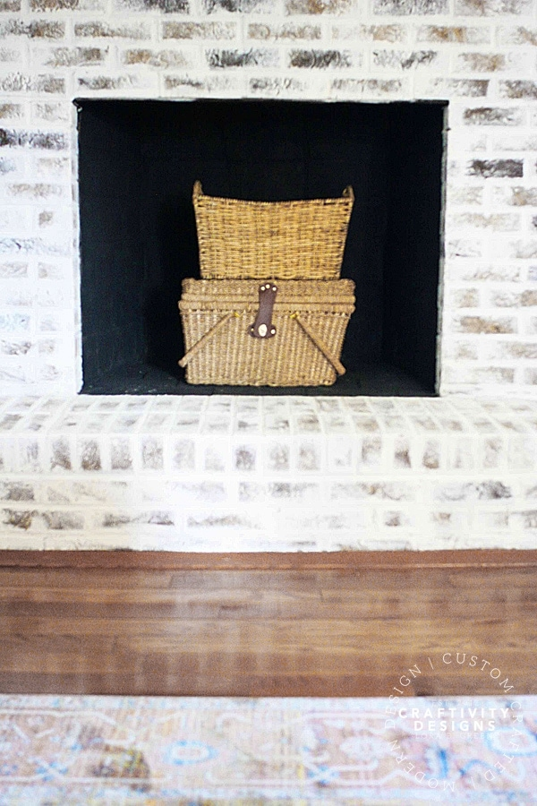 3 Non-Working Fireplace Ideas, Baskets Stacked in a Firebox, by Craftivity Designs