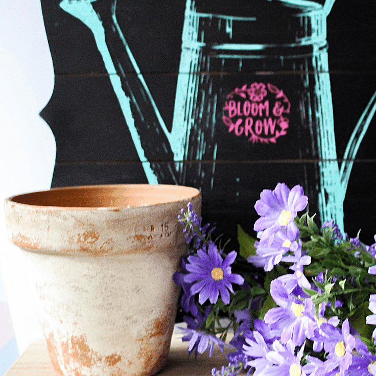 How to easily distress terra cotta clay paints with paint Our Crafty Mom