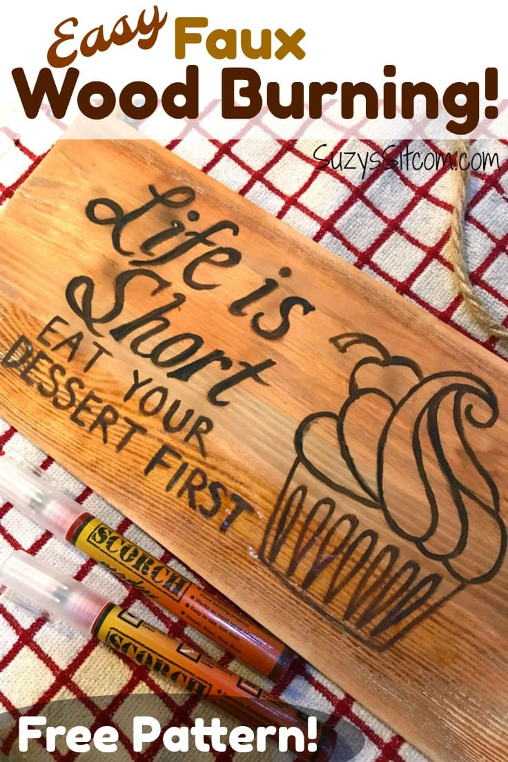 Create the look of wood burning using easy to use Scorch pens!  Simple tutorial shows you how this pen works and includes a free pattern!