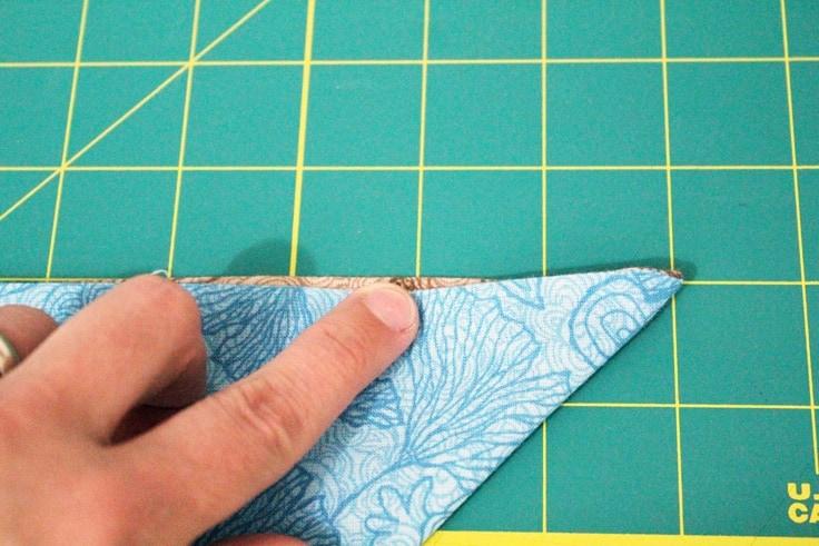 fabric folded into a triangle
