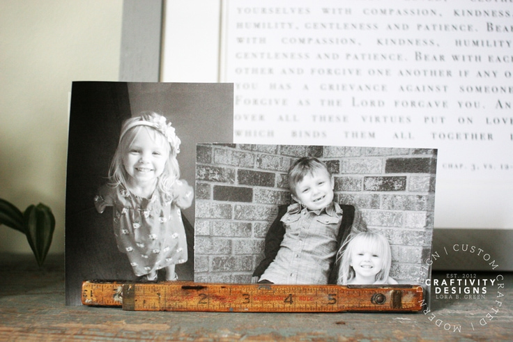 Display Photos in a Folding Ruler, by Craftivity Designs