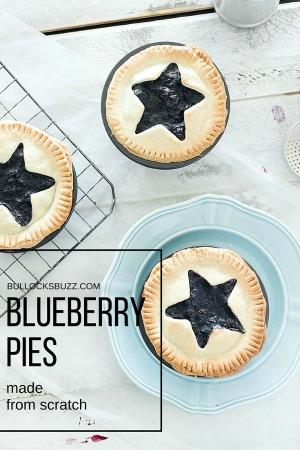 Homemade Blueberry Pies recipe