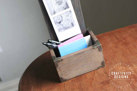 How to Make a Desktop Organizer and Photo Holder by Craftivity Designs