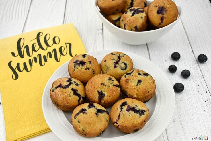 homemade blueberry muffins recipe muffins on plate