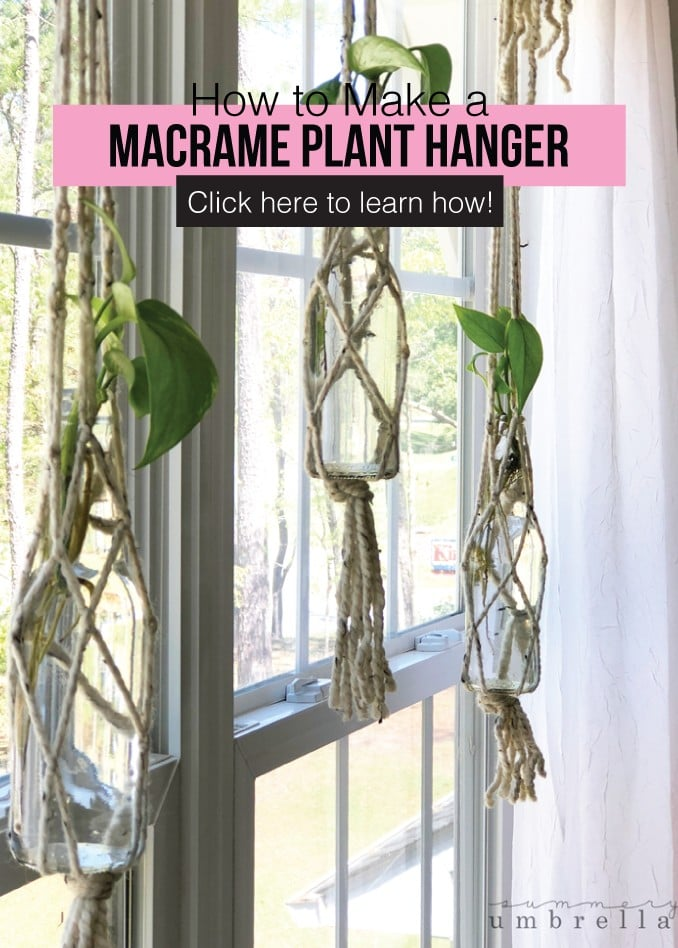 How to make a macrame plant hanger - click here to learn how!