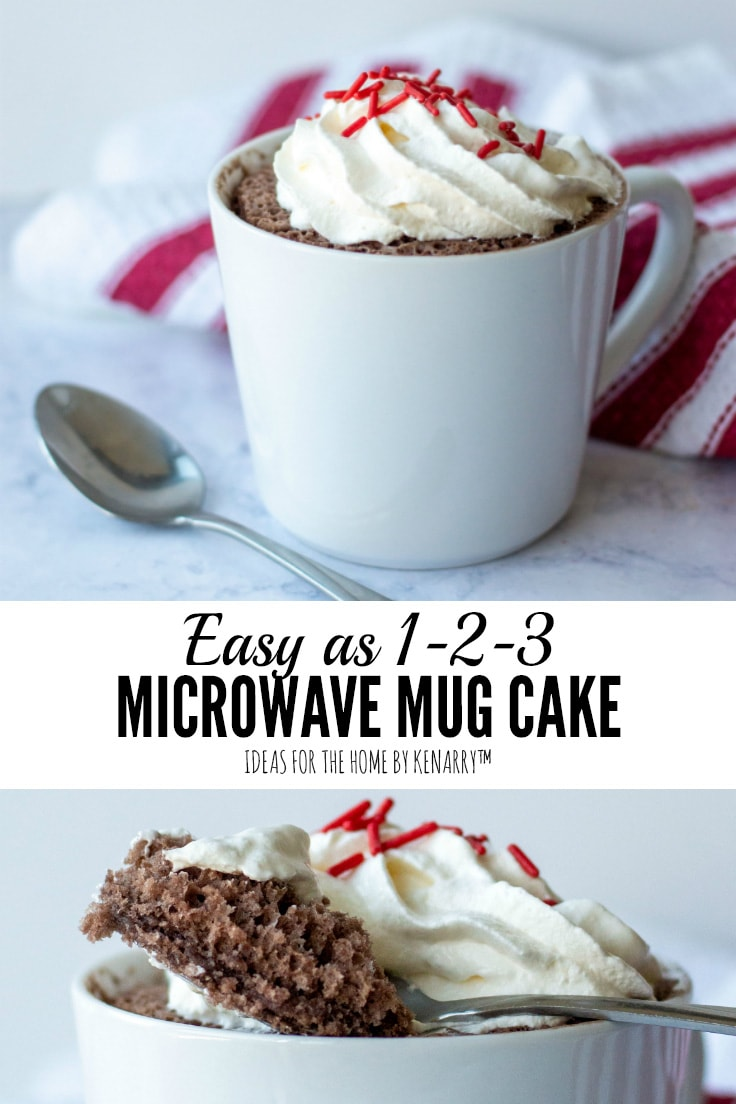 Easy as 1-2-3 Microwave Mug Cake   Ideas for the Home by Kenarry