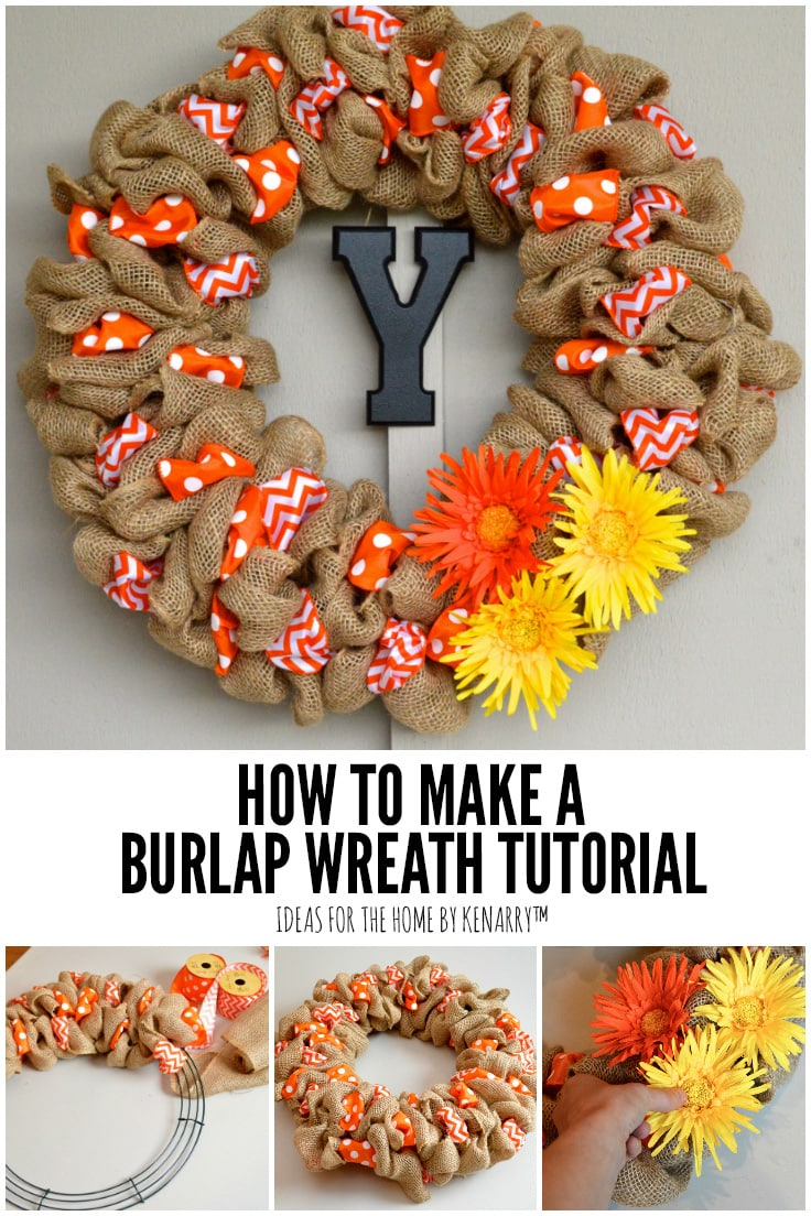 How to Make a Burlap Wreath Tutorial | Ideas for the Home by Kenarry