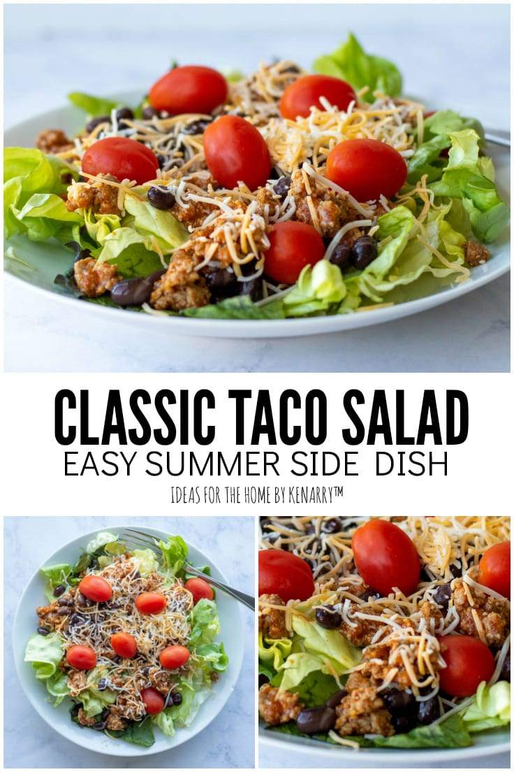 Classic Taco Salad, Easy Summer Side Dish from Ideas for the Home by Kenarry
