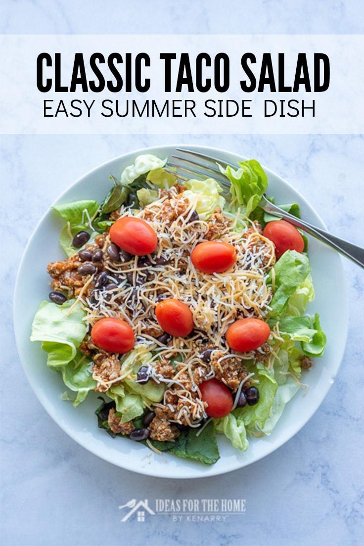 Classic Taco Salad, Easy Summer Side Dish