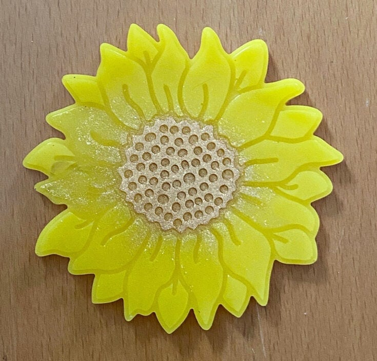 Resin sunflower from Our Crafty Mom.