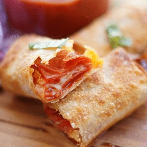 Pepperoni pizza eggrolls from Old House to New Home.